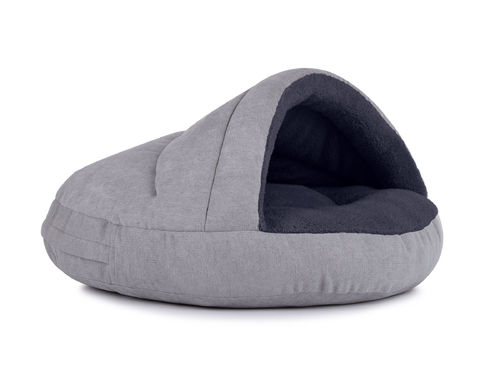 PADSFORALL® Hundehöhle SHELL Comfort | Silber-Anthrazit