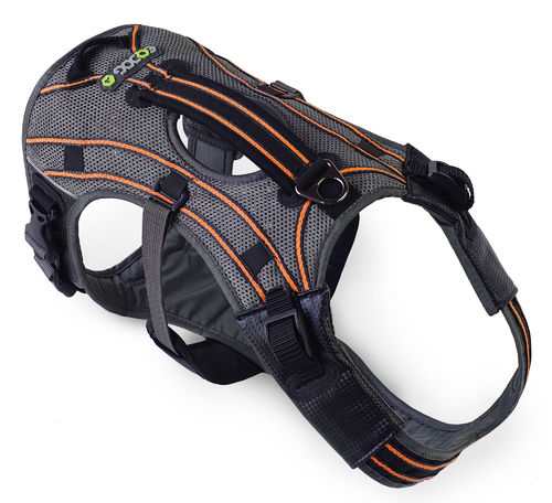 EQDOG® Hundegeschirr PRO HARNESS™ | Grau-Orange