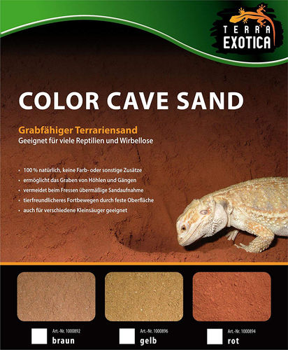 TERRA EXOTICA Color Cave Sand | Rot